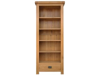 Oakleigh Narrow Bookcase With Drawer