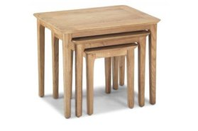 Watford Oak Nest of 3 Tables