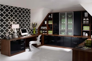 Fitted Office Walnut & Liquorice